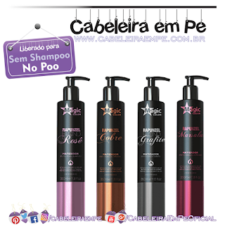 Matizadores Rapunzel (Rosê, Cobre, Marsala e Grafite) - Magic Color (No Poo)