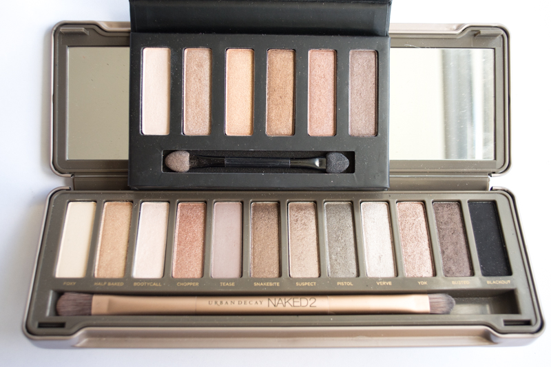 Naked 2 vs. Collection Eyes Uncovered Nude Bronze swatches