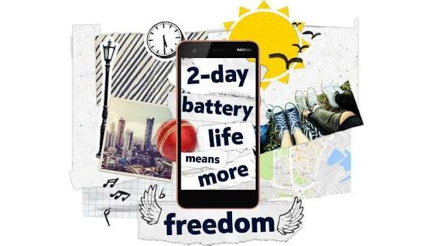 Nokia 2 hadir dengan baterai yang tahan lama dan anti air