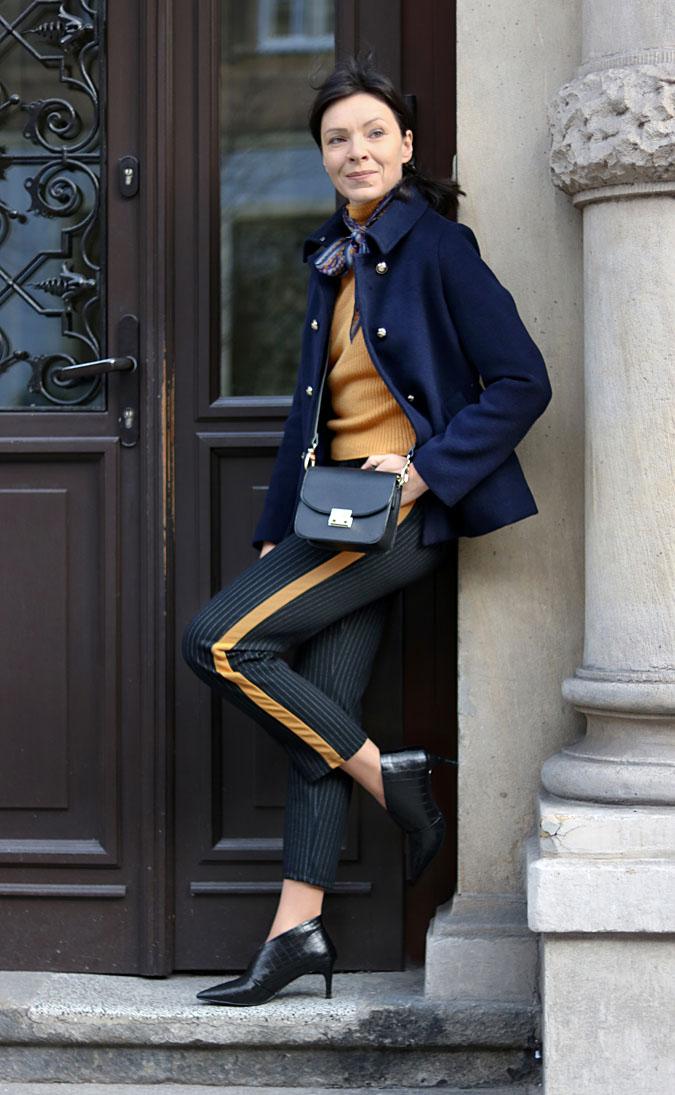 spodnie z lampasami Zara