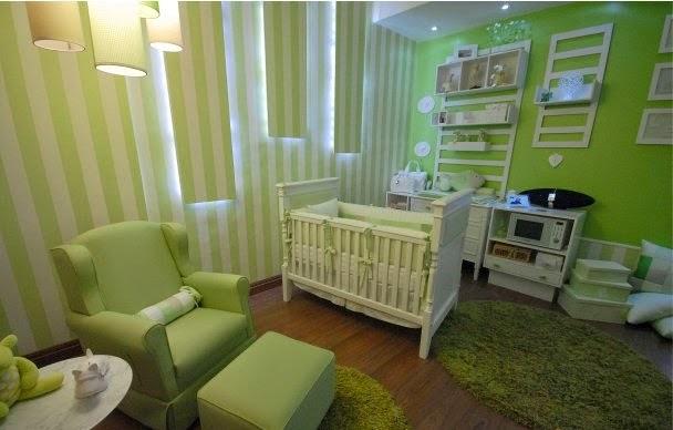 Dormitorios para beb color verde  Ideas para decorar