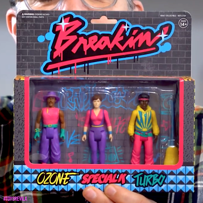 BREAKIN MOVIE ACTION FIGURE SET SUPER7 2019 SDCC EXCLUSIVE SUPER 7 REACTION