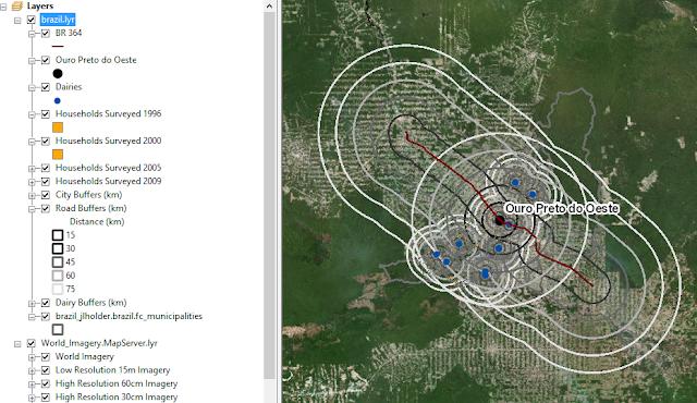 Amazon base layer overlay with satellite imagery