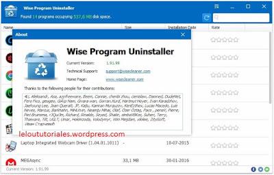 Wise Program Uninstaller v1.91.99 + Portable [MEGA]