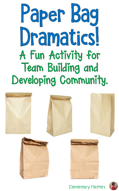 Paper Bag Dramatics: A fun activity for Team Building and Developing Community. Here's an idea that can be used just about anywhere at any time. It encourages groups to solve problems, think creatively, and work as a team.