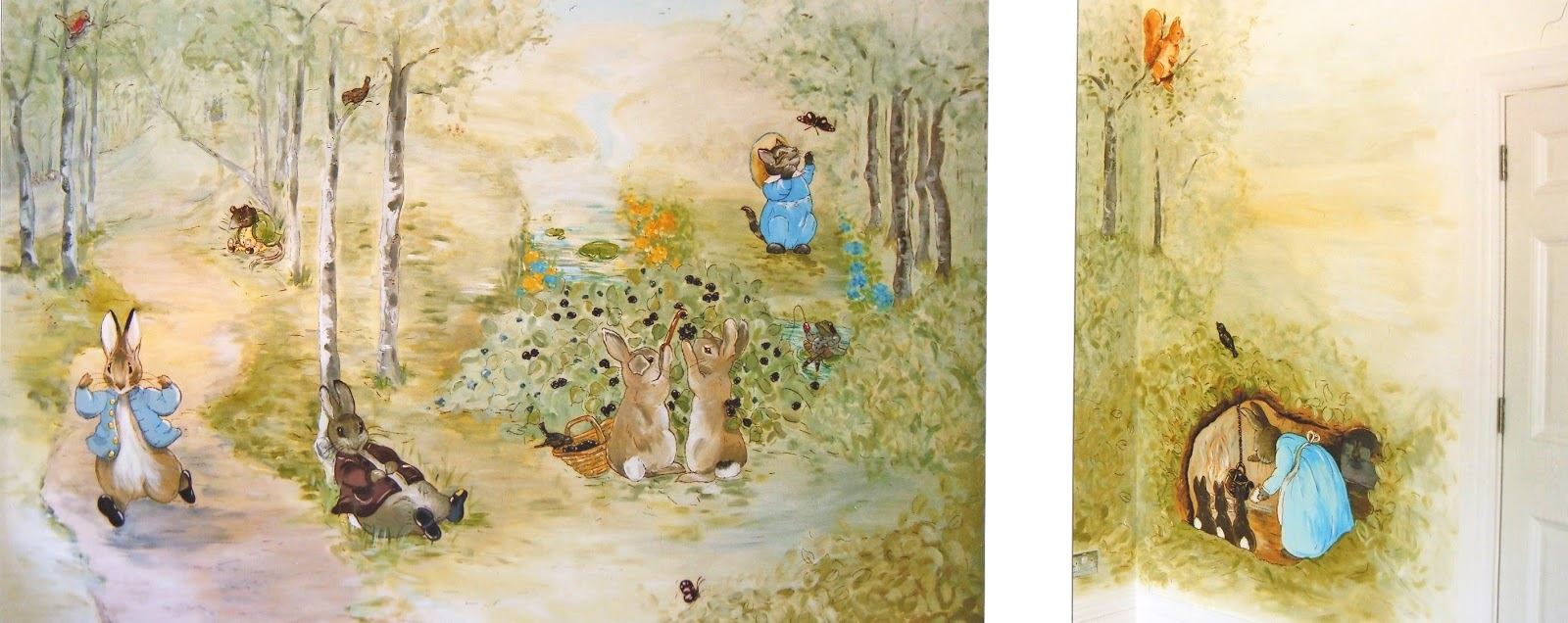 Harriet parry portfolio murals for Beatrix potter wall mural