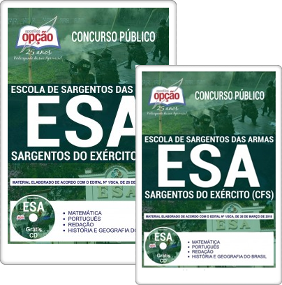 Apostila EsSA 2018 concurso Exército Brasileiro CFS