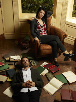 Jonny Lee Miller and Lucy Liu as Sherlock Holmes and Joan Watson in Elementary Pilot Episode
