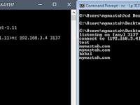 Cara Chattingan Melalui Command Promt (CMD) dalam Satu Jaringan