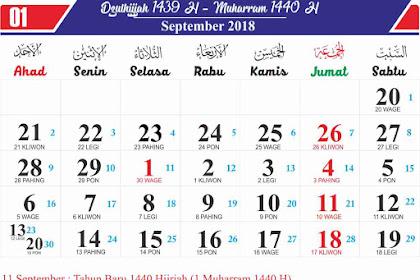 Download Kalender 1440 Hijriyah Tahun 2019