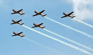 Pesawat KT-1B Wong Bee Jupiter Aerobatic Team (JAT) TNI AU