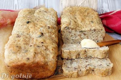 Najłatwiejszy chleb bez wyrabiania (z dodatkami)