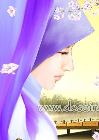 59 Gambar Animasi Muslimah Menangis