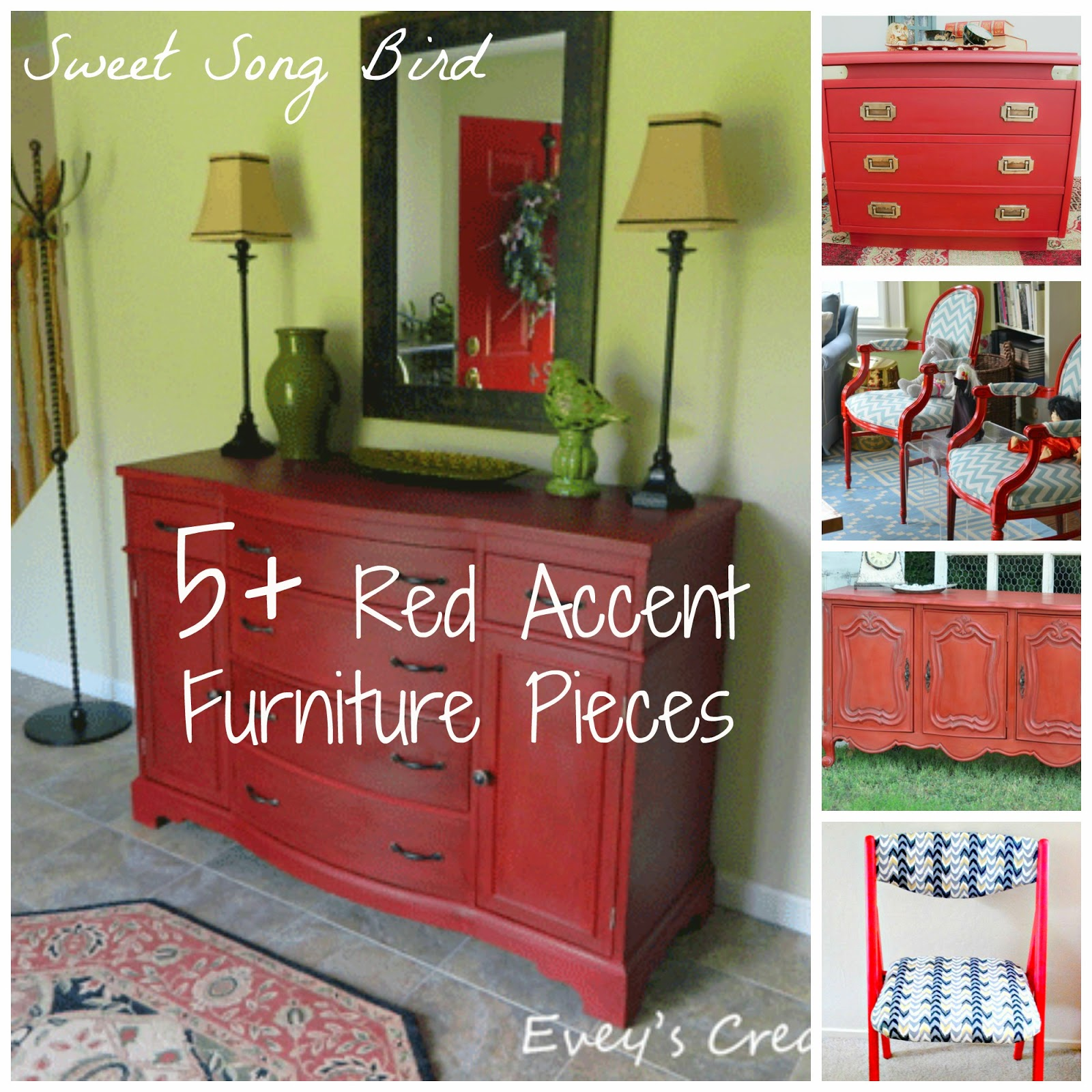 Red Accents Evey 39s Creations 5 43 Diy Red Accent Furniture Pieces