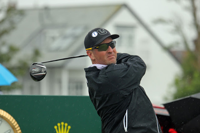 David Duval scored a 91 in the first round of the 2019 Open Championship