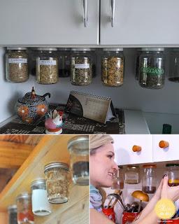 Ideias para organizar e guardar temperos na cozinha
