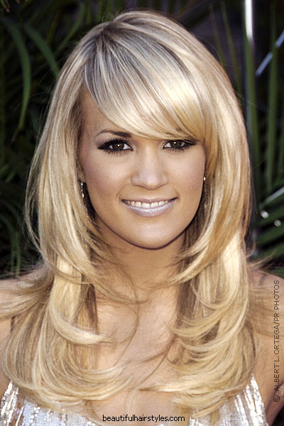 Layered Hairstyles Gallery Long Layered Hairstyles With Side Swept Bangs