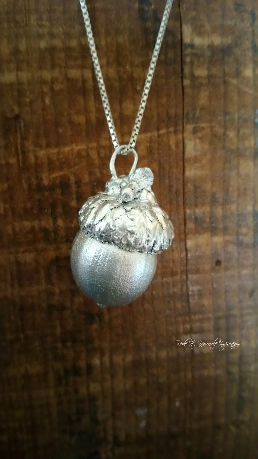 Diy acorn pendant redo it yourself inspirations diy for Acorn necklace craft