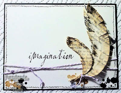 Visible Image stamp feather bird ink splat