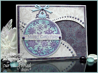 Stamps - Our Daily Bread Designs Christmas Pattern Ornaments, ODBD Christmas Paper Collection 2013, ODBD Custom Circle Ornament Dies