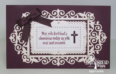 Our Daily Bread Designs Stamp Set: Faith Card Sentiments, Our Daily Bread Designs Custom Dies: Filigree Frames, Rectangles, Ornamental Crosses