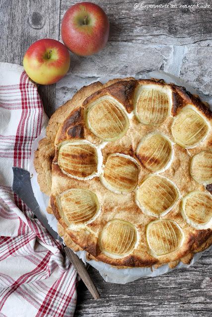 Apfel-Quark-Tarte | Rezept | Backen | Kuchen | Herbst