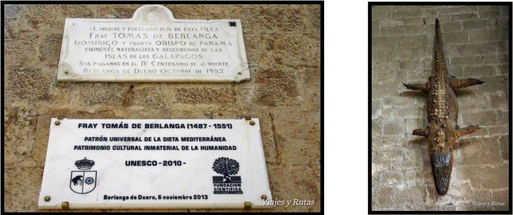 Placas a fray Tomás y el ardacho, Berlanga de Duero