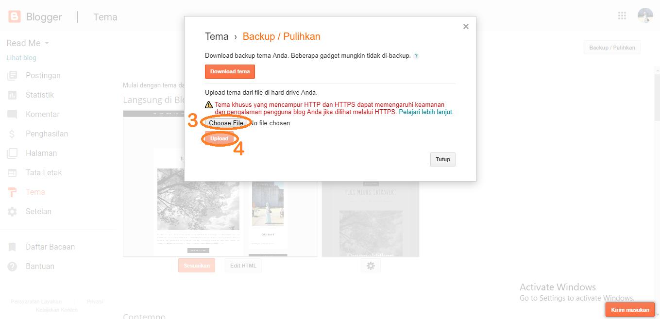 tutorial blog simpel minimalis
