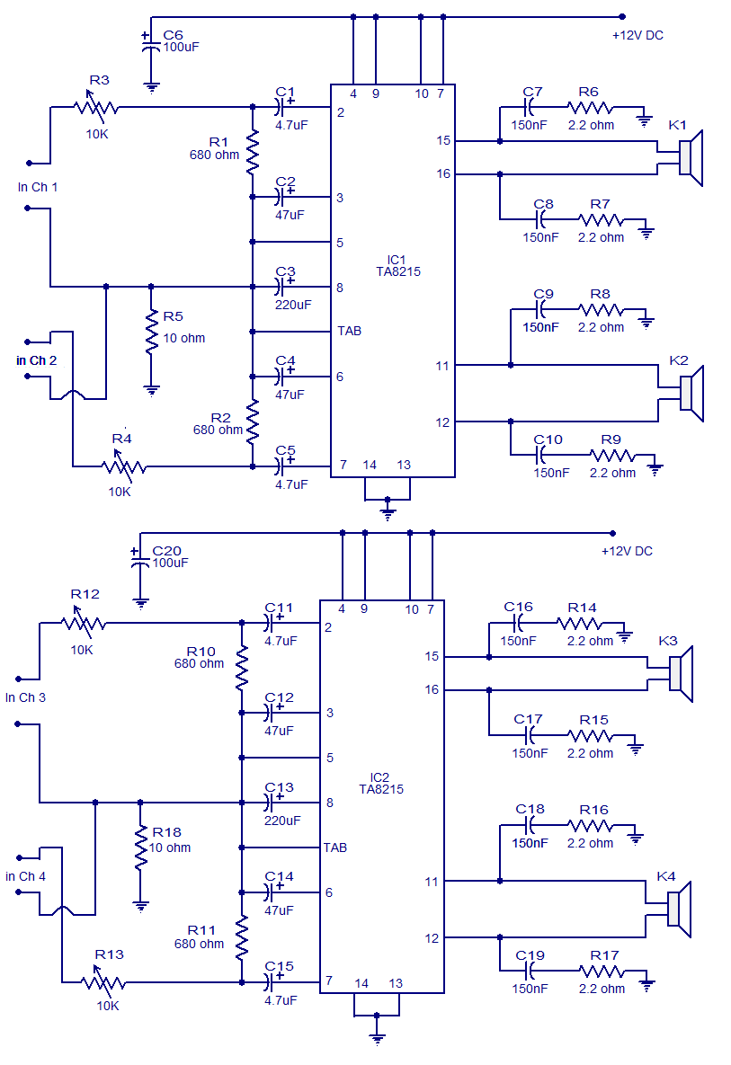 October 2014 Wiring Circuit Universal Power Supply With Ic78xx And Mj2955 60w Dual Stereo Amplifier
