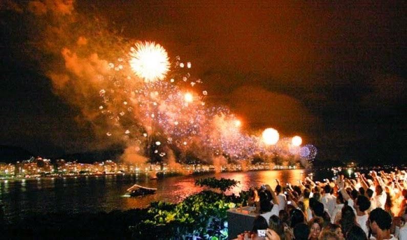 New Year Eve 2016 Rio de Janeiro Fireworks  Photos