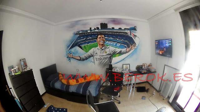 Graffitis Cristiano Ronaldo Bernabéu