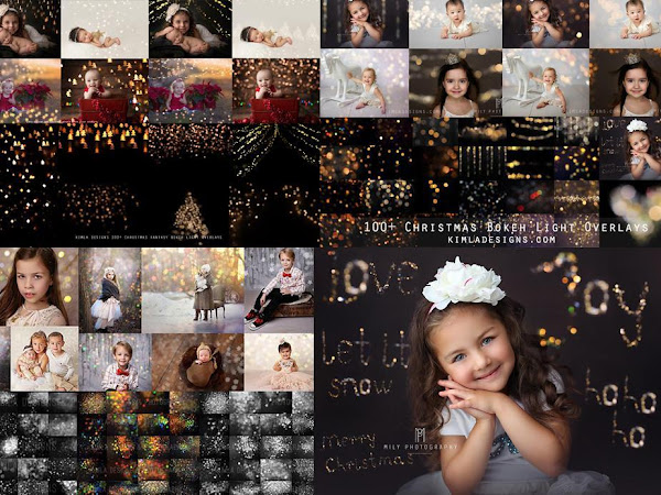 How to add Christmas Bokeh Photo Overlays to your pictures - Free Photoshop Tutorial