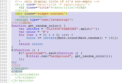 Screenshot html code