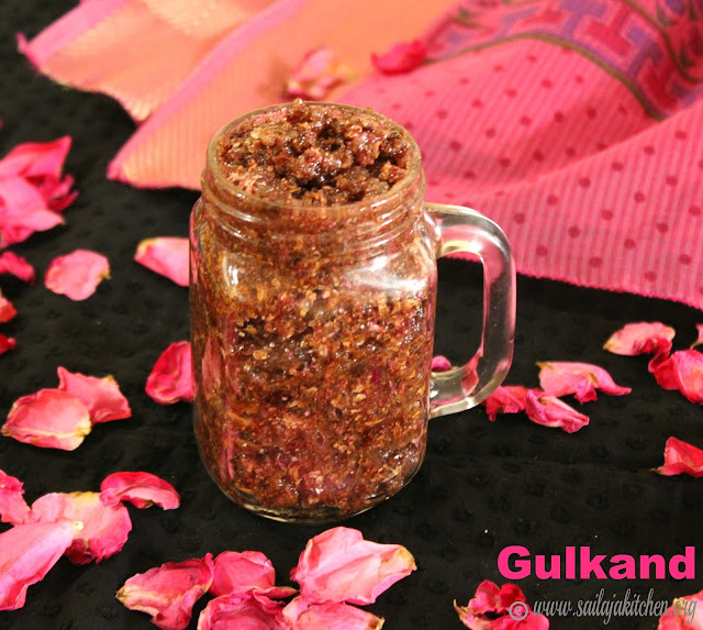 images of Gulkand Recipe / Homemade Gulkhand / Rose Petal Jam / Rose Petal Preserve / - How To Make Gulkand At Home
