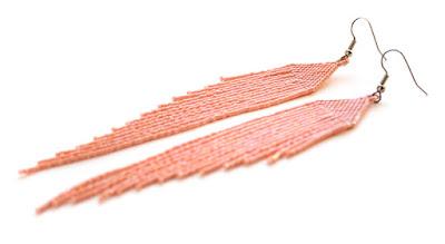 купить украшения в стиле бохо интернет магазин серьги персиковые из бисера