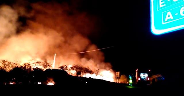 Fotograma video i-bejar.com incendio