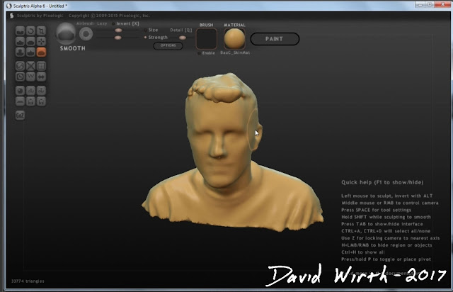 skanect, sculptris, scan face, person scan edit