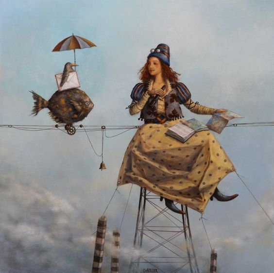 08-The-Dejective-Catherine-Chauloux-Paintings-of-Surreal-Worlds-and-Characters-www-designstack-co