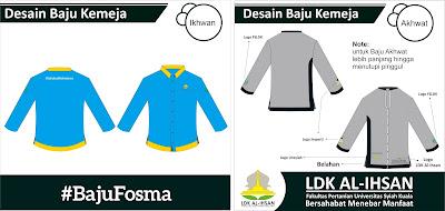 Desain Baju Kemeja Organisasi Format CDR