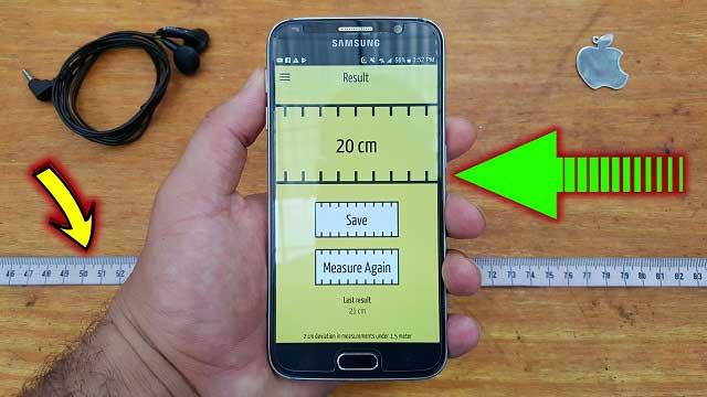 طريقة قياس أي مسافة دون إستعمال شريط القياس فقط من خلال الهاتف ?!