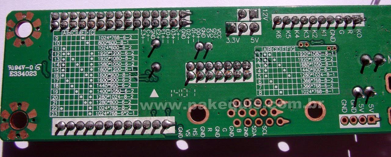 Placa universal de LCD MT6820