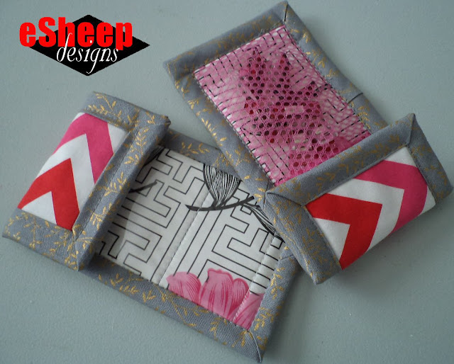 Scrappy Mesh & Vinyl Pouches by eSheep Designs