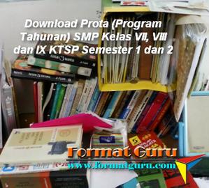 Prota (Program Tahunan) SMP Kelas VII, VIII dan IX KTSP Semester 1 dan 2