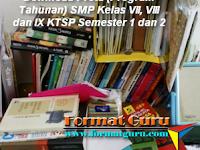 Download Prota (Program Tahunan) SMP Kelas VII, VIII dan IX KTSP Semester 1 dan 2
