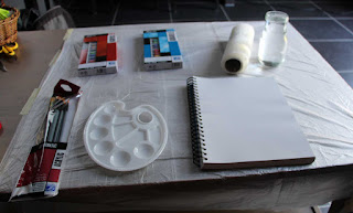Before I started - note how I protected the table top :D