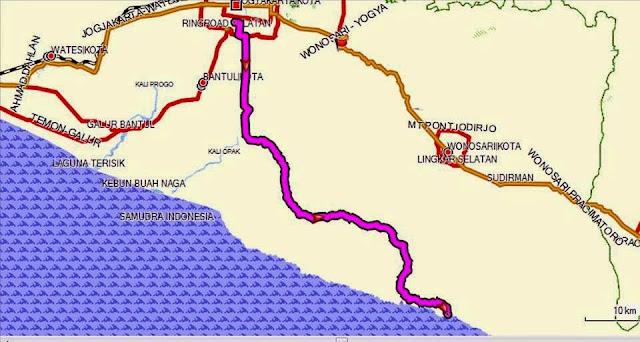 Rute ke Pantai Gunungkidul via jalur lintas selatan