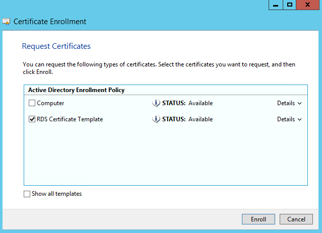 Certificate template unavailable web enrollment images certificate template not available web enrollment choice image random notes of a sysadmin windows 2012 r2 yadclub Image collections