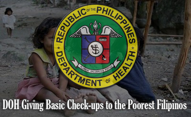 DOH Giving Basic Check-ups to the Poorest Filipinos