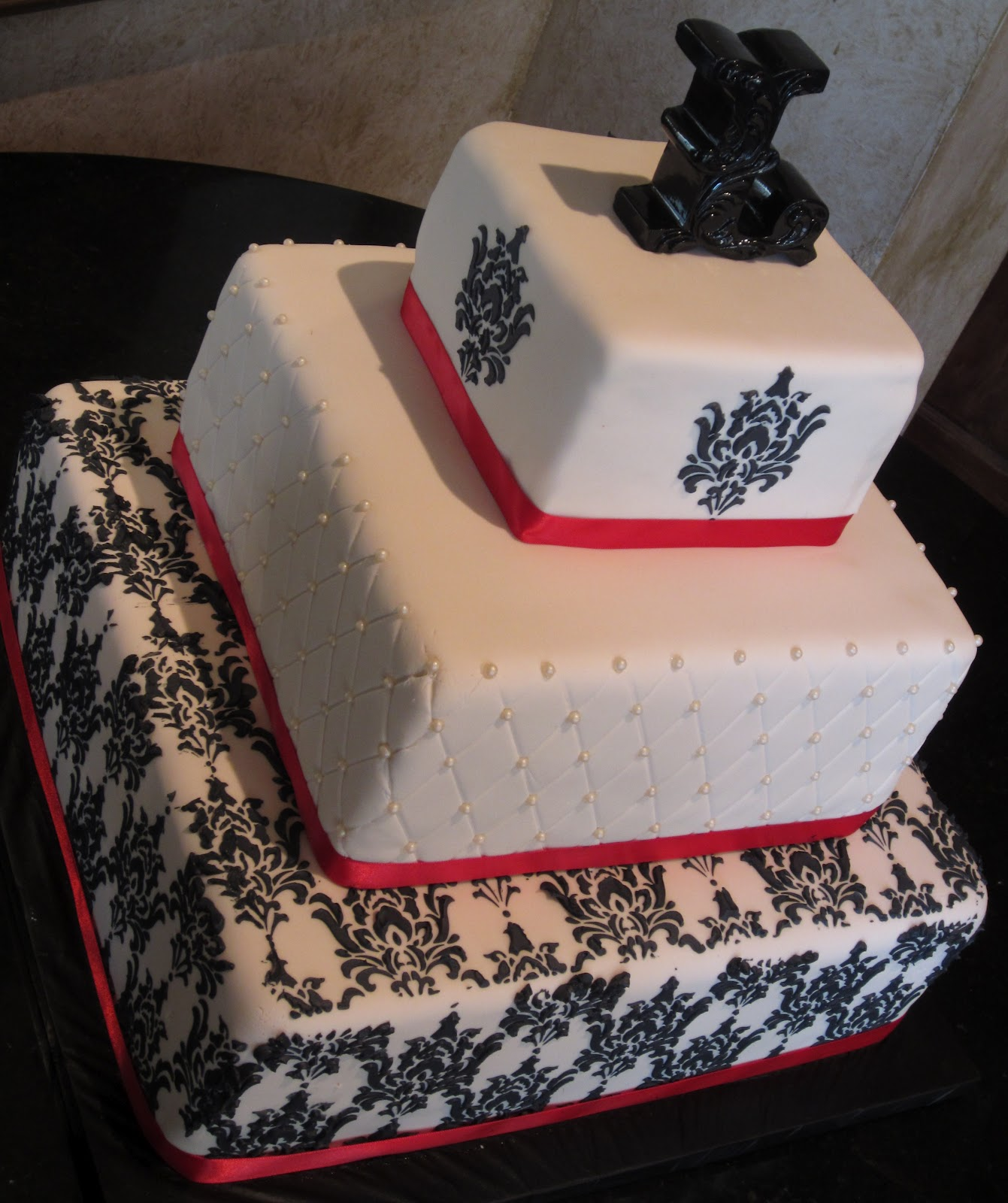 The Most Baffling Wedding Cake Ever Just Got A Beautiful: J's Cakes: Stenciled Wedding Cake