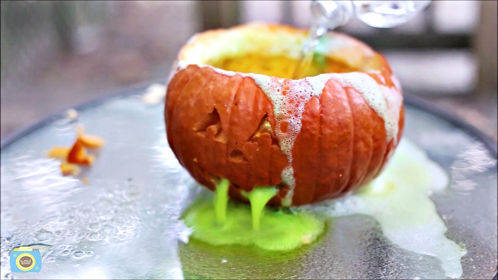 Puking Pumpkin Volcano Experiment!